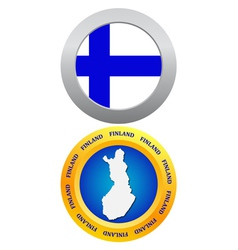button as the character Finland vector image