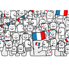 Cartoon people - french national day vector