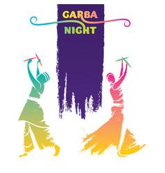 Celebrate indian navratri festival poster design vector