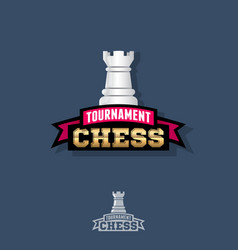 Chess tournament logo competition emblem vector