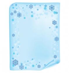 Christmas list with snowflake vector