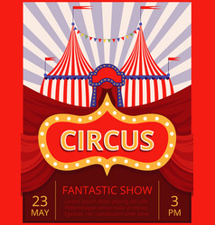 circus invitation festival or party event poster vector image