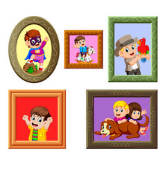 Collection of the photos frame vector