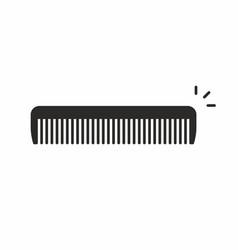 comb icon vector image vector image