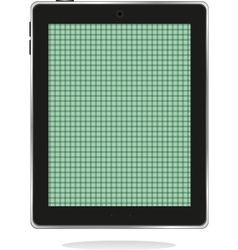 Computer tablet pc with green abstract screen vector
