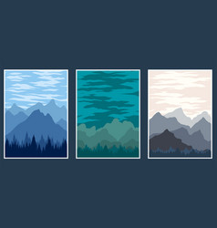 cover landscape mountain vector image