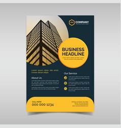 Creative business flyer template vector