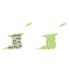 Demographics and environment trinidad and tobago vector