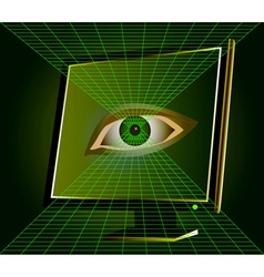 Digital Eye vector
