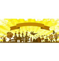 Fairytale banner vector
