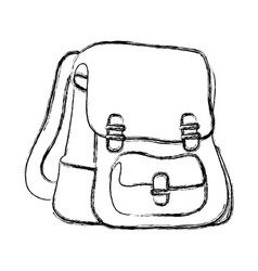 figure school backpack education object design vector image