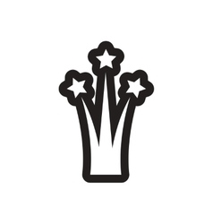 Flat icon in black and white firework vector