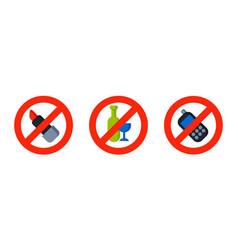 flat no lipstick sign make up vector image
