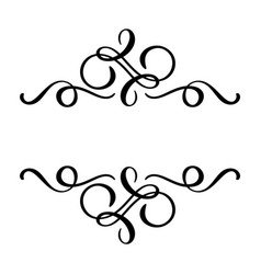 Floral calligraphy element flourish hand vector
