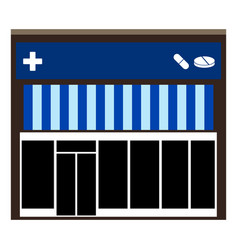 Front view of a pharmacy vector