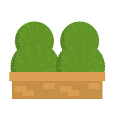garden shrub construction icon vector image