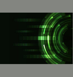 green circle digital abstract pixel background vector image