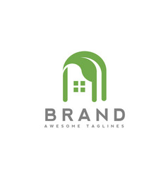 green house building logo vector image