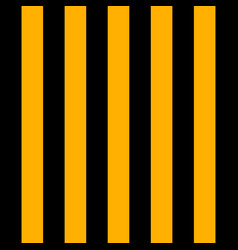 halloween pattern black and yellow vertical strips vector image