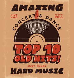 hard music poster concert and festival tee vector image