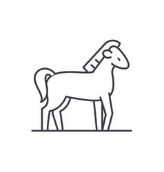 horse line icon concept horse linear vector image