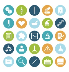 Icons plain circle medical vector