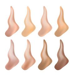 Liquid foundation cosmetic cream woman vector
