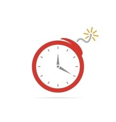 logo design combination a clock and bomb vector image