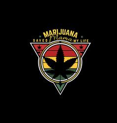 Marijuana mama silhouette design vector