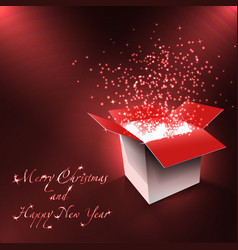 merry christmas and happy new year postcard magic vector image