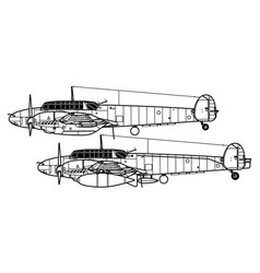 messerschmitt bf 110c-d vector image