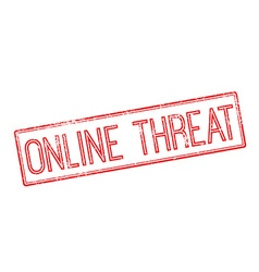 Online Threat red rubber stamp on white vector