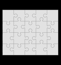 parts of gray puzzle vector image