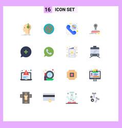 Pictograph set 16 simple flat colors logo vector