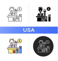 primaries icon vector image