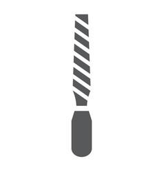 Rasp glyph icon tool and repair file tool vector