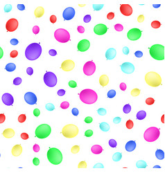 realistic color balloons seamless pattern flat vector image