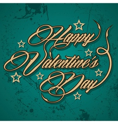 Retro Happy Valentines Day greeting vector image