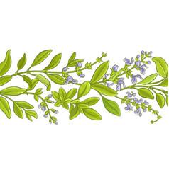 Sage branch pattern vector