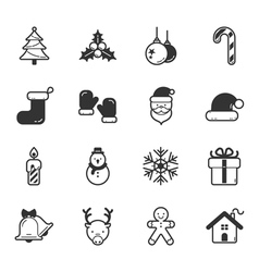 Set of merry christmas icons eps10 format vector image