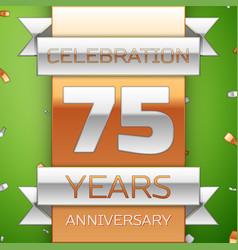 seventy five years anniversary celebration design vector image