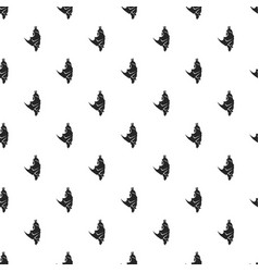 sleeping bat pattern seamless vector image