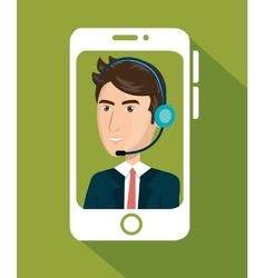 Smartphone with agent call center vector