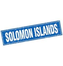 Solomon Islands blue square grunge vintage vector