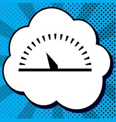 speedometer sign black icon vector image