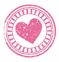 stamp with a heart vector image