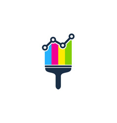stats paint logo icon design vector image