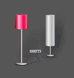 Stylish loft office lamp lights realistic mockup vector