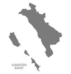 sumatera barat indonesia map grey vector image