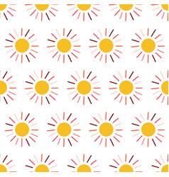 sun seamless pattern background vector image